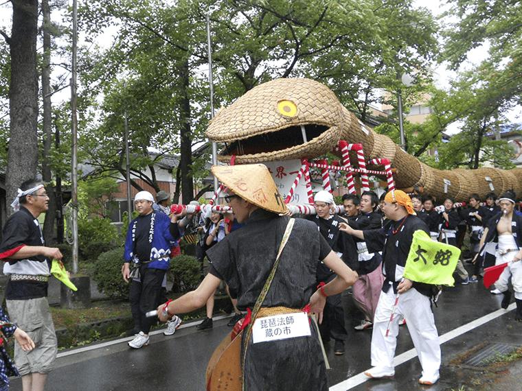 関川村の「大したもん蛇祭り」の様子