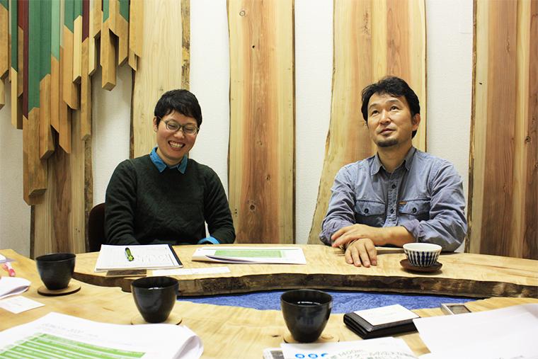 日本自然保護協会の幸地さんと大野さん