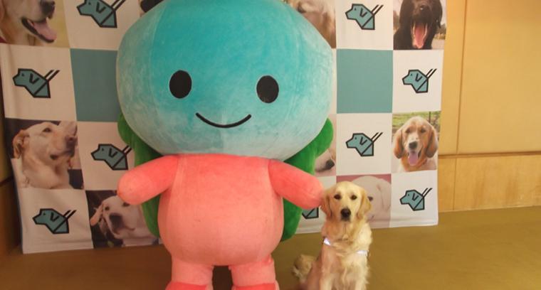 サニエルとPR犬ナディア