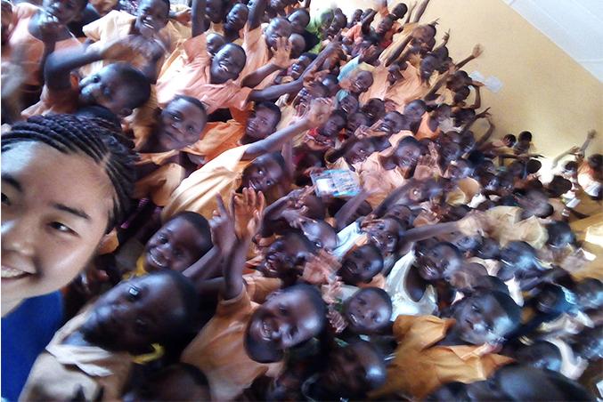 ウンクム村の小学校にて