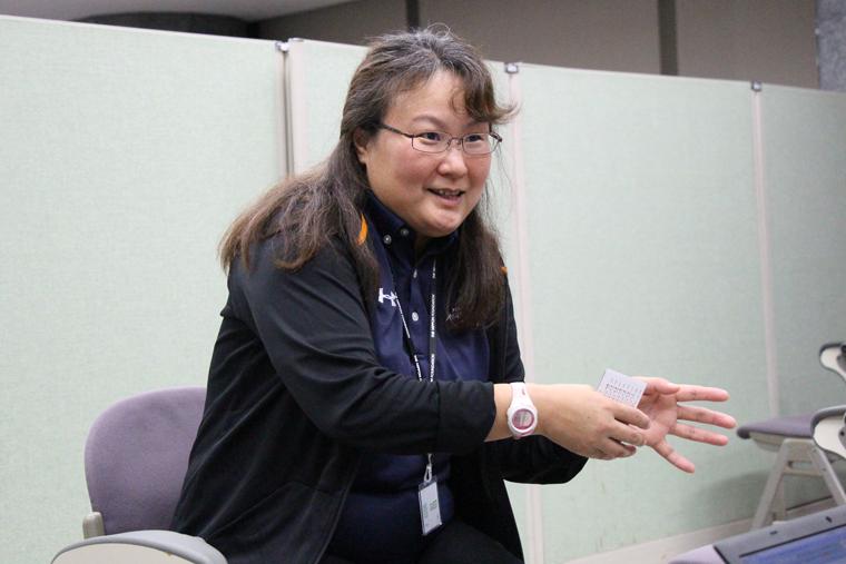 スポーツボランティア・コーディネーターの田口さん。スポーツボランティア歴は15年以上。