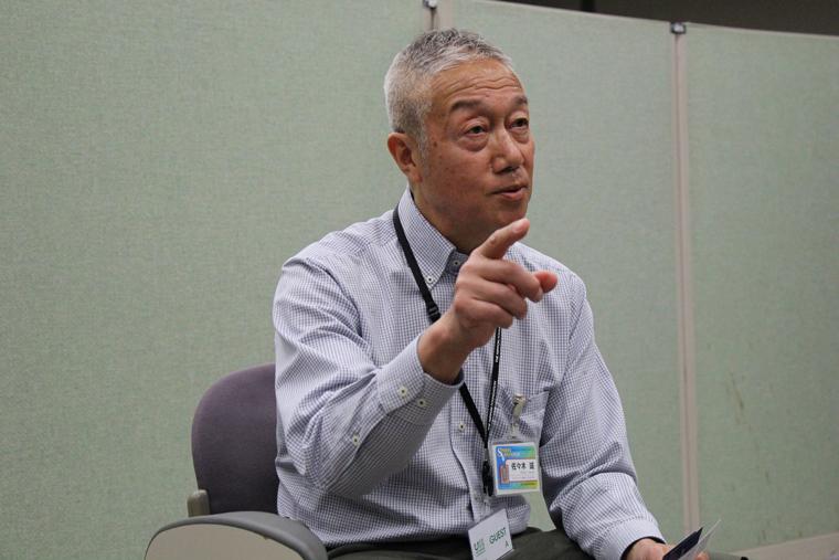 スポーツボランティア・上級リーダーの佐々木さん。普段は、マラソンやサイクルイベントのスポーツボランティアに参加することが多い。
