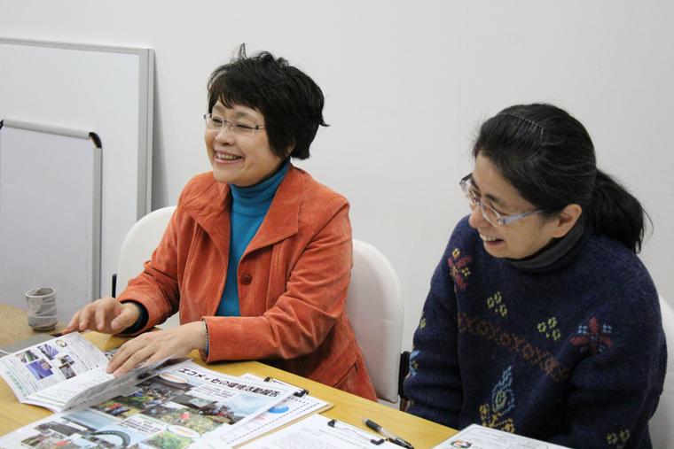 左は理事長の大嶽さん、右は事務局長の西田さん