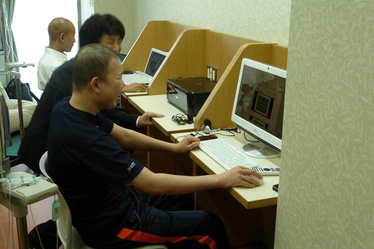 大阪府立総合医療センターのゴールドリボンe学習室