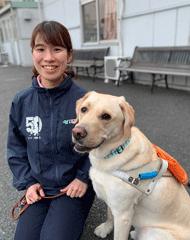 山本さんと盲導犬