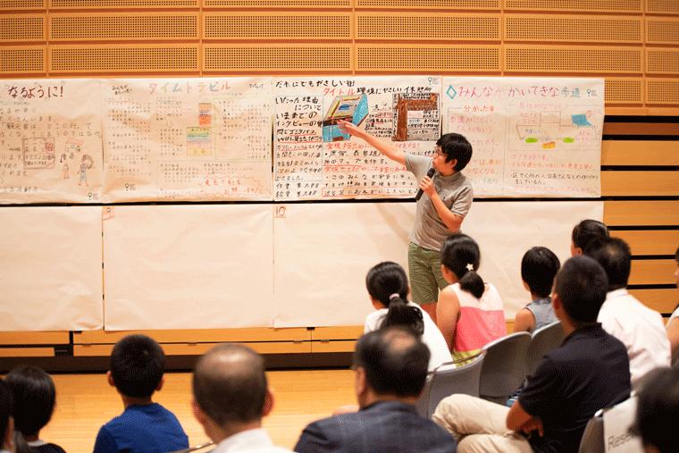 子どもを主体にした「ソーシャルキッズ・アクション・プロジェクト」でのプレゼンの様子。