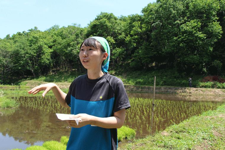 東京農工大学大学院連合農学研究科、博士課程3年の森嶋さん