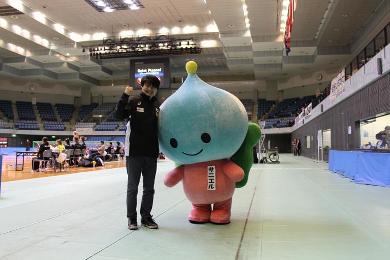 辻村選手とサニエルのツーショット